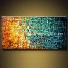2015 Современный абстрактный пейзаж палитра Ножи ар-деко картины маслом украшения дома Гостиная настенные панно Ножи живопись