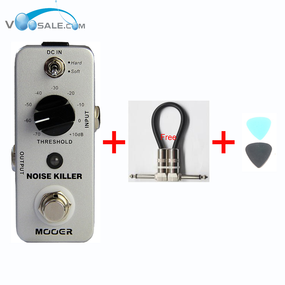 Mooer Noise Killer Gate Pedal Guitar Effect Pedal Reduces The Extra Noise Ture Bypass Guitar Accessories + Free Cable new effect pedal mooer solo distortion pedal full metal shell true bypass