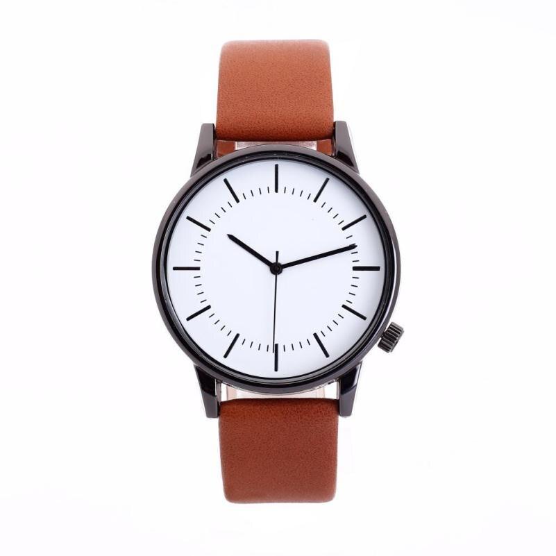 2018 Glass Round Dial Leather Skin Strap Alloy Watch Quartz Lovers Watches Fashion Luxury Watch Ladies Relogio Feminino
