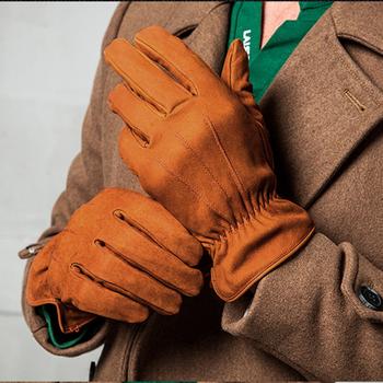 2020 nowe oryginalne skórzane rękawiczki męskie nubukowe rękawice ze skóry wołowej moda utrzymać ciepło wysokiej jakości jazdy zimowe rękawiczki męskie TB34 tanie i dobre opinie Charles Perra Dla dorosłych Prawdziwej skóry Stałe Nadgarstek gloves Male S M L Black Black Brown Yellow Borwn Spring Autumn Winter