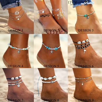 Starfish Pendant Anklets 2019 For Women New Stone Beads Shell Anklet Bohemian Bracelets On Leg BOHO Ocean Jewelry Drop Shipping 1