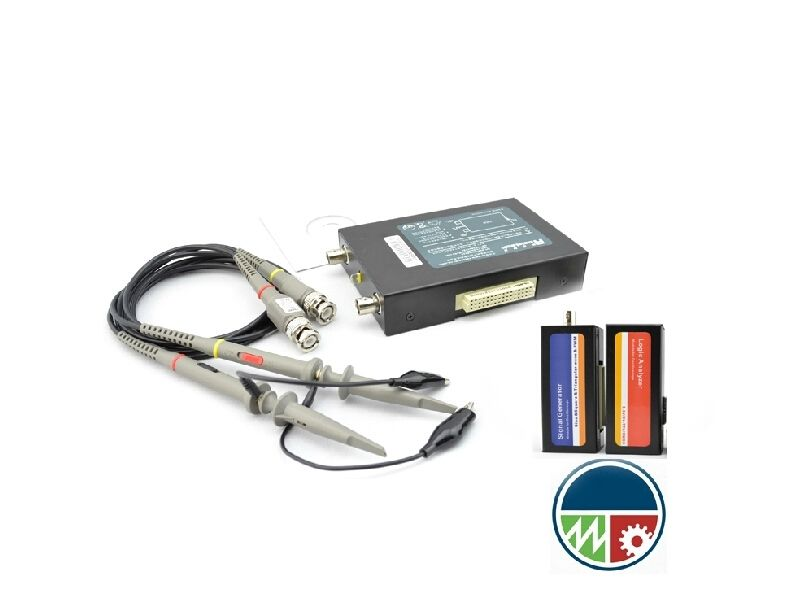 USB PC Virtual Oscilloscope + Signal Generator + Logic Analyzers 40MHz 200MS/s
