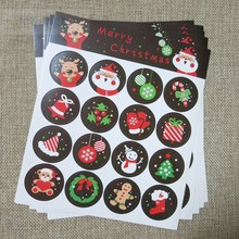 160pcs- Multi styles mix Christmas Decorative adhesive Paper Stickers Chriatmas Gift packaging labels(China)