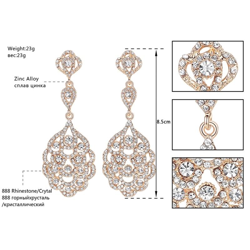 Vathë Minmin Crystal të gjata për femra Vathë të varur me ngjyra - Bizhuteri të modës - Foto 3