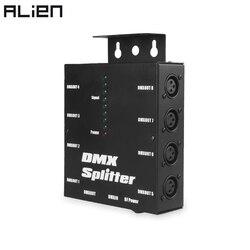 ALIEN 8 каналов изолированные 3Pin DMX 512 оптический сплиттер Istribution усилитель для DJ Дискотека Свадьба DMX сценическое освещение