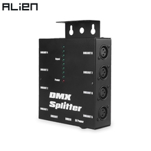 ALIEN 8 ช่องแยก 3Pin DMX 512 Optical Splitter Istribution เครื่องขยายเสียงสำหรับ DJ Disco Wedding DMX Stage Lighting Effect