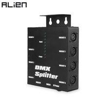 ALIEN divisor óptico DMX 512 DE 3 pines, amplificador de istribución para DJ, discoteca, boda, efecto de iluminación de escenario