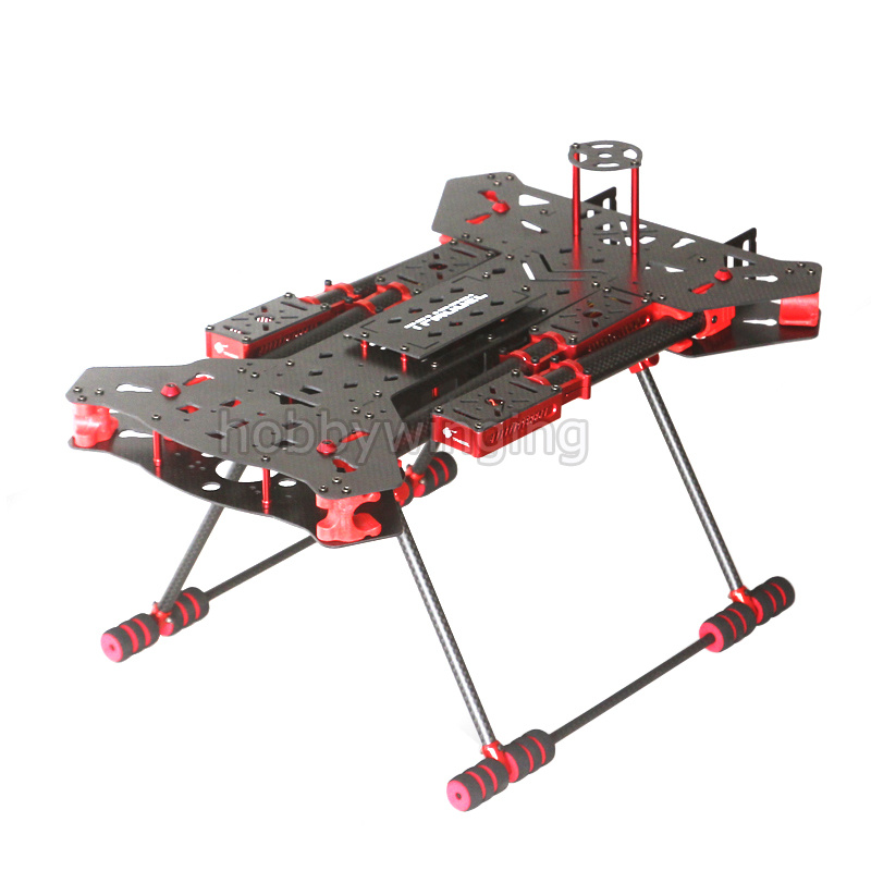 680mm Alien Quadcopter 3K Carbon Fiber Folding Frame Kit large space APM PIX install CNC Aluminum Motor Mount with LED lamp FPV