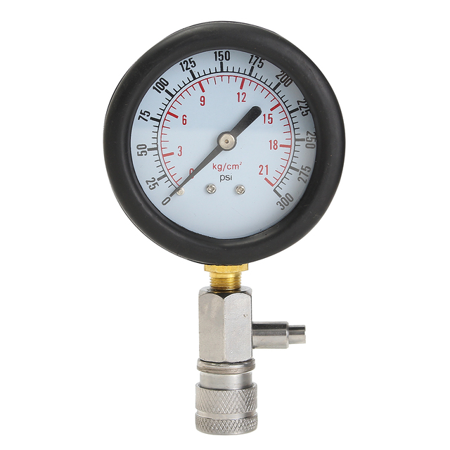 0-300 PSI Compressor Gauge Meter Test Pressure Compression Tester Petrol Gas Engine Cylinder Leakage Diagnostic Car Tool