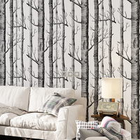 Bacaz Black Trees Forest Wallpaper Roll for Walls Living Room Background 3d wall paper Roll 3d wall coverings 3d Papel de parede