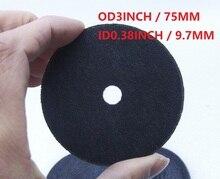 """Discos de corte T1 de 3 """"y 75mm, rueda de disco de molienda para herramienta de corte neumático de aire, novedad 10 unids/lote ID9.7MM"""