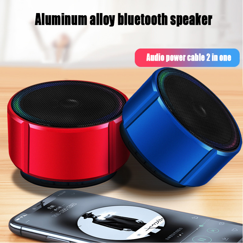 Portable Wireless Bluetooth Speaker With Microphone Radio Music Play Support TF Card Speakers For iPhone Huawei Xiaomi-in Subwoofer from Consumer Electronics