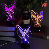 Cartoon Cute 3D Dream Night Light Dynamic Color LED Night Lighting Lovely Girl Kids Desk Lamp for Birthday Gift