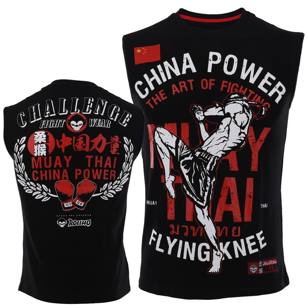 Soft Monkey ROLLHO Fighting Fitness Fighting Sleeveless T-shirt Muscle Male Dog Beg MMA Sport Sanshou  Muay Thai