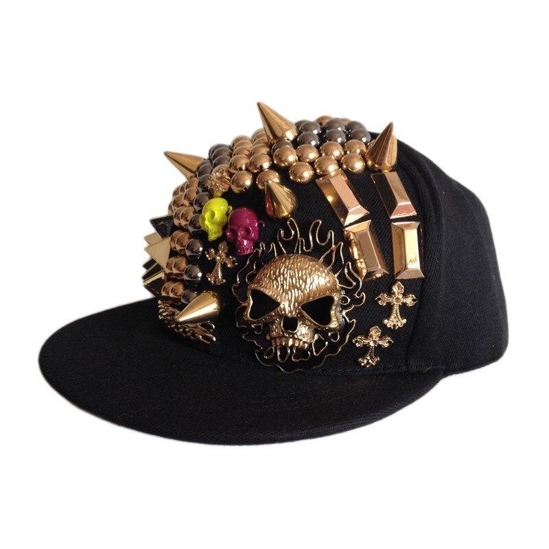 Rhinestone Star Snapback Adjustable Baseball Cap Hip Hop Hat Cool Bboy Fashion