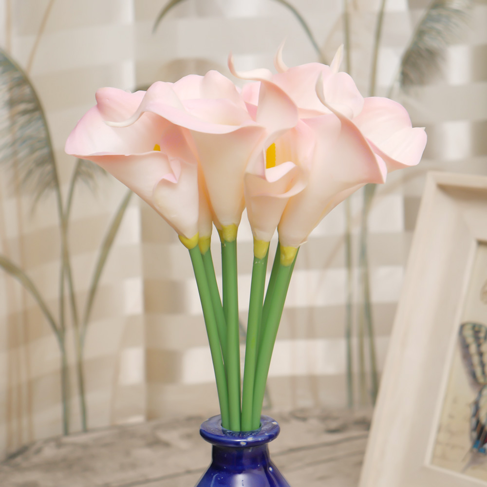1piece real touch lily artificial mini calla lily flower home 1piece real touch lily artificial mini calla lily flower home wedding decoration flores cheap pu fake flowers artificiales in artificial dried flowers izmirmasajfo