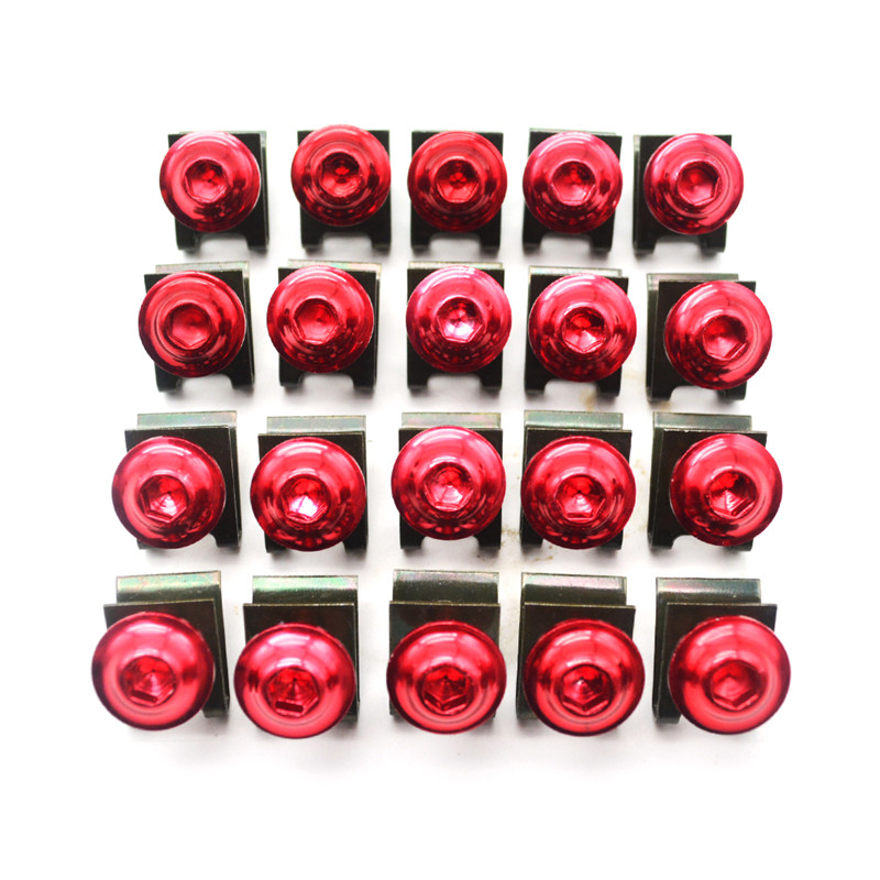 for 20pcs Motorcycle Scooters Fairing Body Bolts M6 6mm Spire Fastener Clips Screw  Nuts for HYOSUNG GT650R GT 650 R GT650 R GT