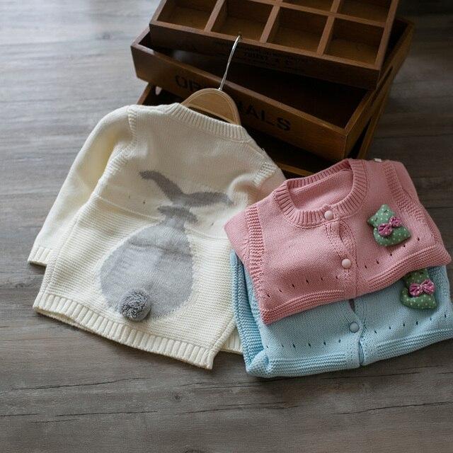 2016 весна/осень Новый стиль  для девочки из хлопка вязаный свитер розовый/синий