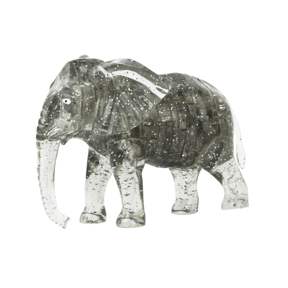 Designer Construction 3D Crystal Puzzle Cute Elephant Model DIY Educational Toys Gadget Building Toy Gift