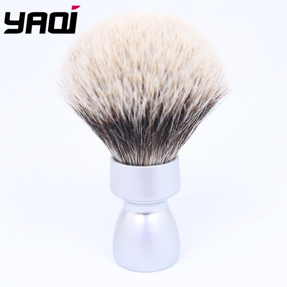 Yaqi Matte Chrome Color Metal Handle Best  Badger Hair Shaving Brush