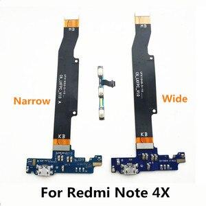 Мощность, громкость и зарядная плата, гибкий USB кабель и материнская плата, соединительная линия, гибкий кабель для Xiaomi Redmi Note 4X