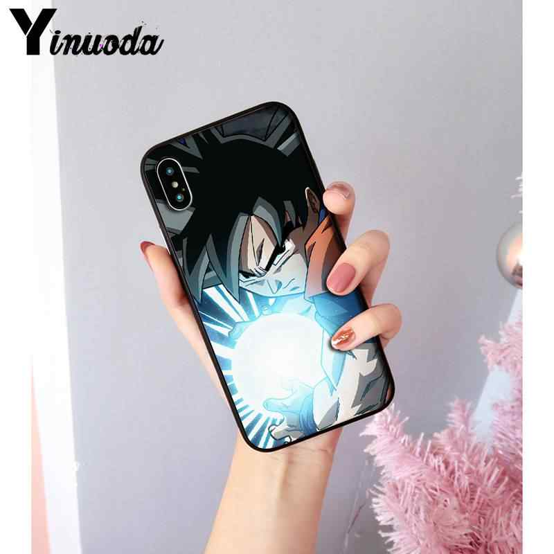 Yinuoda dragon ball super goku ssj3 legal anime telefone caso capa para iphone 8 7 6 s 6 plus x xs max 5 5S se xr 11 11pro 11promax
