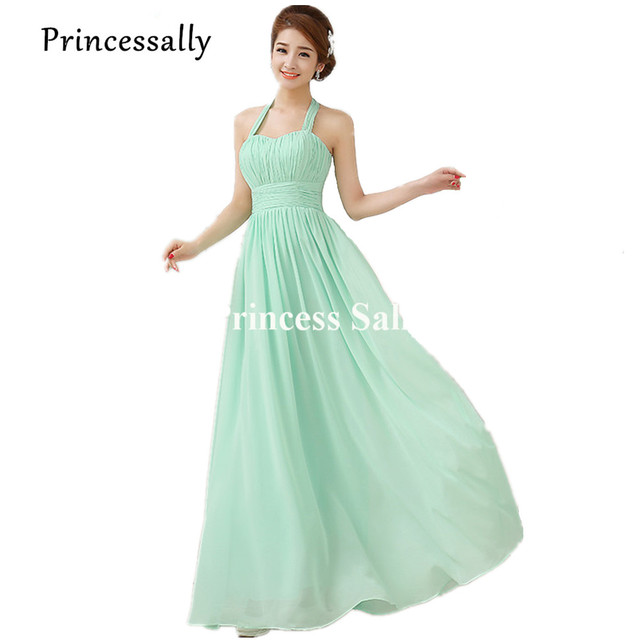 c94db56c0a5 Pastel menthe vert robe de demoiselle d honneur en mousseline de soie  vraies Photos bleu