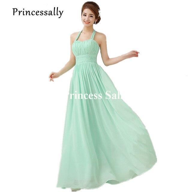 10fa0339079c Pastello Verde Menta Damigella D onore Chiffon Foto Reali Light Blue Dress  Damigella D