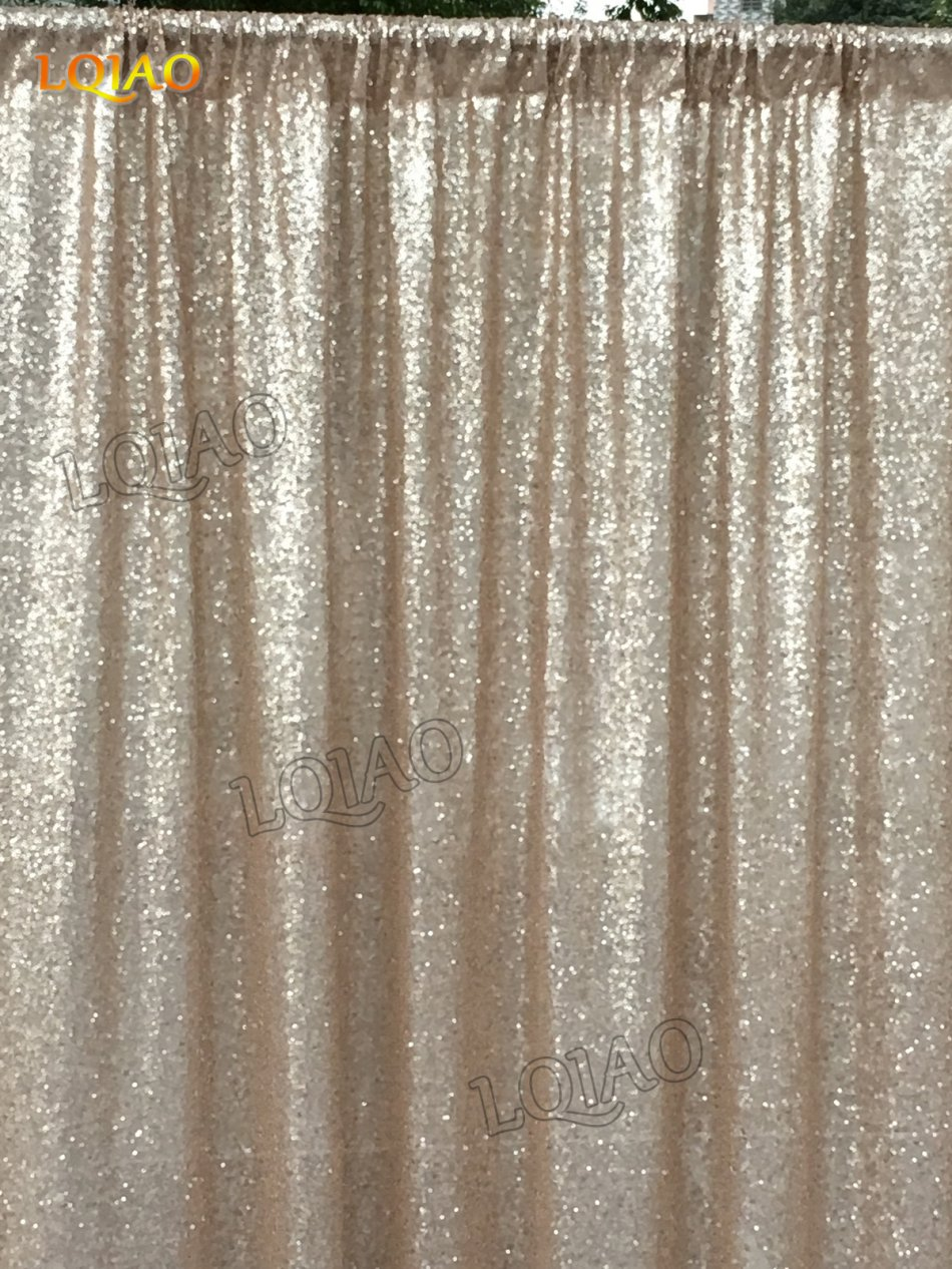 Backdrop Fabric Curtain Silver 4FTx10FT Sequin Photo Backdrop Shimmer Curtains for Backdrop 1011E