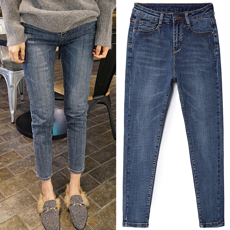 Cheap Wholesale 2019 New Spring Summer Autumn Hot Selling Women's Fashion Casual  Denim Pants BP68