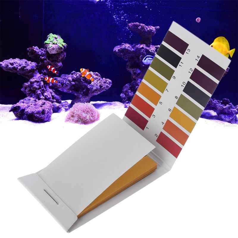 Kit d'essai de réservoir de poissons d'eau froide d'aquarium Tropical de 1-14 PH 80 papier d'essai Dec-26A