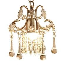 Bedroom Gold Pendant Lamp Lights American Mini Single headed Crystal Kitchen Nordic Lighting Modern