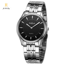 AILUO Моды Ультра-тонкий Повседневная Бизнес Классические Часы Мужчины Кварц Алмаз Наручные Часы Водонепроницаемый 50 М Полный Нержавеющей Стали Часы