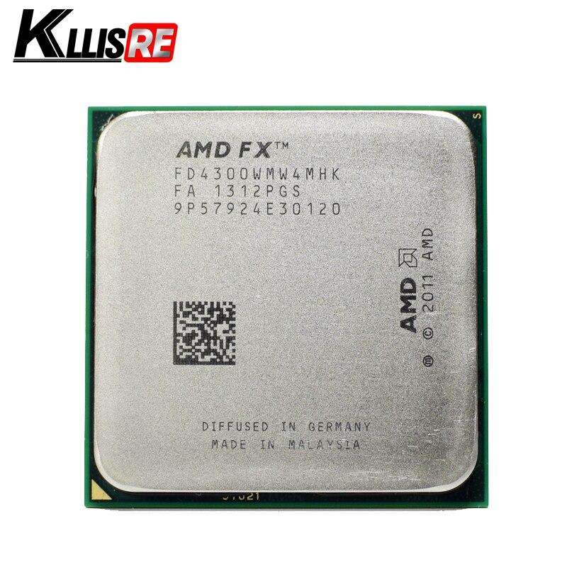 Процессор AMD FX 4300 3.8 ГГц четырехъядерный процессор разъем AM3 + 32NM ЦП навальный пакет FX-4300