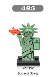 Image 1 - รูปปั้นของ Liberty อาคารบล็อกอิฐของขวัญเด็กของเล่นเข้ากันได้กับเลโก้