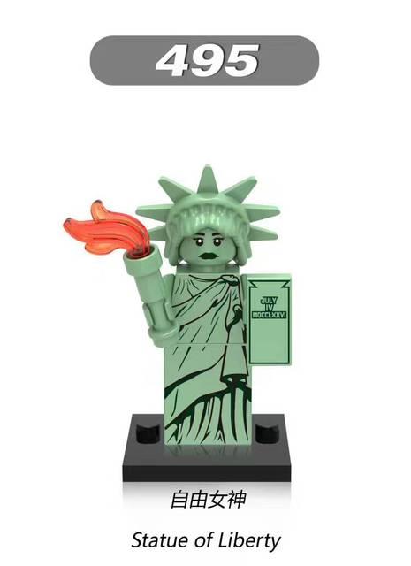 รูปปั้นของ Liberty อาคารบล็อกอิฐของขวัญเด็กของเล่นเข้ากันได้กับเลโก้