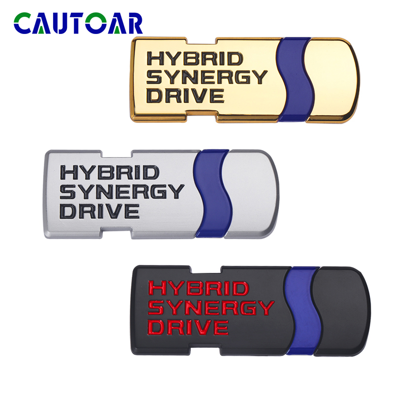 Car Styling Metal Emblem Sticker Auto Badge Decal For Toyota Hybrid Synergy Drive Letter Prius Camry Rav4 Crown Auris Accessorie
