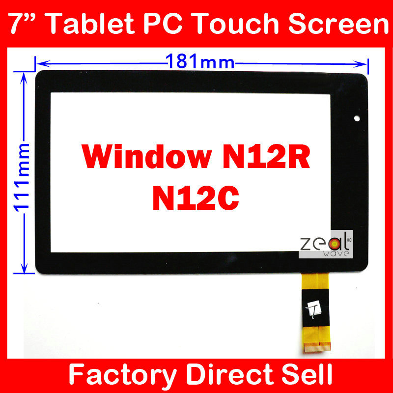 7 7Inch Capacitive Touch Screen Digitizer Glass Replacement for Window N12R / N12C Vido N12R/N12C MT70223-V0,SIZE:186mm*112mm