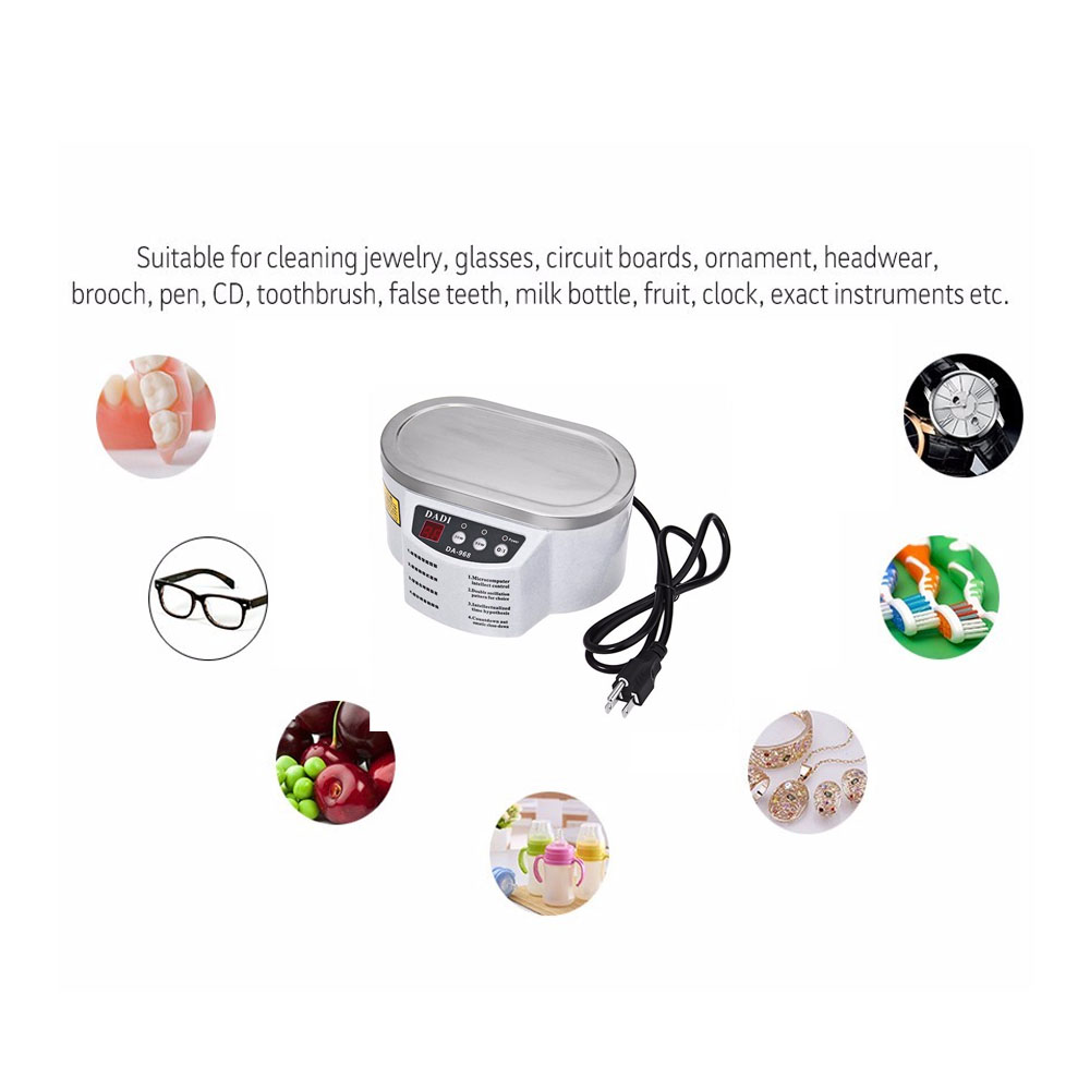 Free Shipping Da 968 New Smart Mini Ultrasonic Cleaner Bath For Rice Cooker Circuit C Cooking Timer Cleaning Jewelry Glasses Board Intelligent Control In Cleaners From Home
