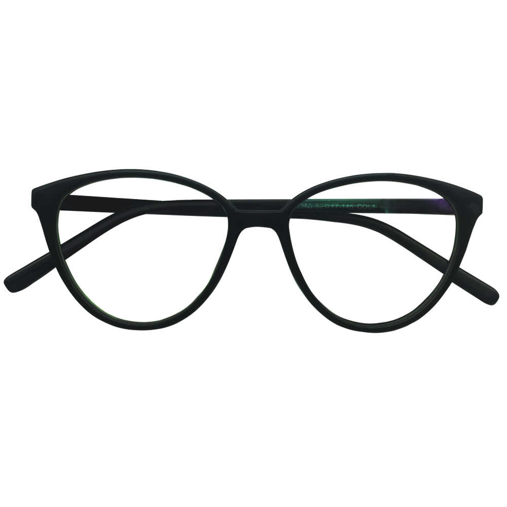 ab8e051df3a Ladies Cateye Nearsighted -0.25 to -6.0 Prescription Glasses Womens Cat Eye  Black Frames Shortsighted