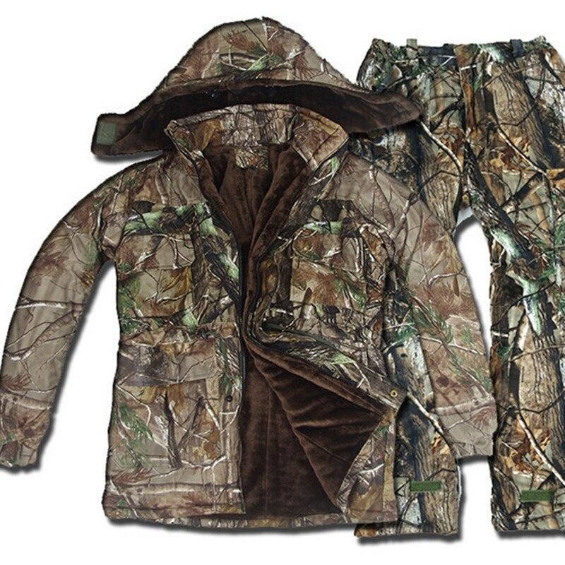 5 pièces extérieur tactique hiver étanche bionique chasse Ghillie costume Camouflage vêtements Sniper Jungle bois Sports ensembles