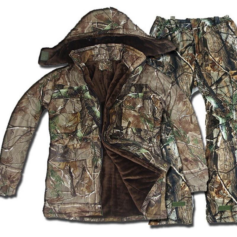 5 uds. Al aire libre táctico invierno impermeable biónico caza traje Ghillie de camuflaje ropa francotirador bosque deportes conjuntos