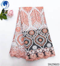 Beautifical guangzhou lace fabric new guipure wedding dress high quality flower designs 5yards/lot 5N296
