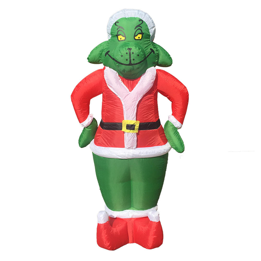 Inflatable 7 Foot Christmas Grinch Yard Christmas Decoration Grinch Stole Christmas Outdoor Inflatable Immovable Free Shipping