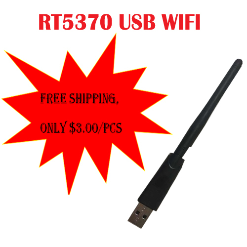 Ratlink RT5370 USB WiFi Adapter 150M Wireless Network Card with Antenna For set top box media player free sat gtmedia