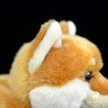Cute realistic German Shepherd dog doll Japanese Shiba Inu doll Stationary Plush Toy Simulation Animal baby gift