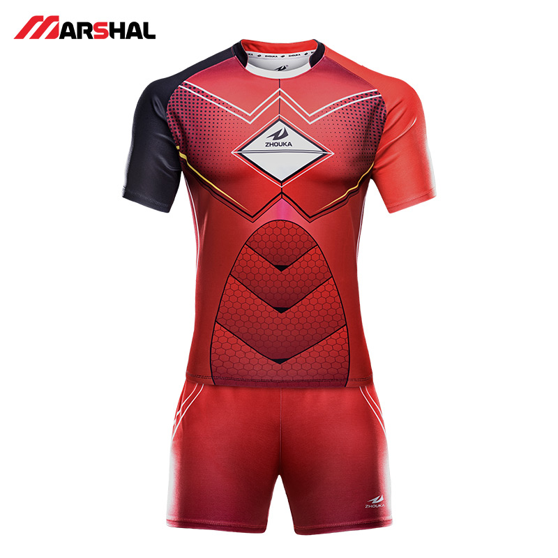 Wholesale Sublimated Rugby Jerseys Training Suit Clothes Maker Blank Shorts League Shirt Uniform Custom Super Rugby Jersey