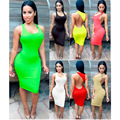 2016 European Style Aliexpress Top Selling Solid Color Back Side Hollow Out Summer Sexy Nightclub Dress
