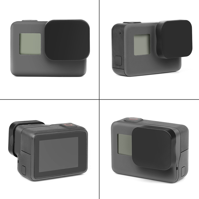 SHOOT Hard Protective Lens Cap For GoPro Hero 7 6 5 Black Action Camera Protector Cover for Go pro 7 6 5 Action Camera Accessory