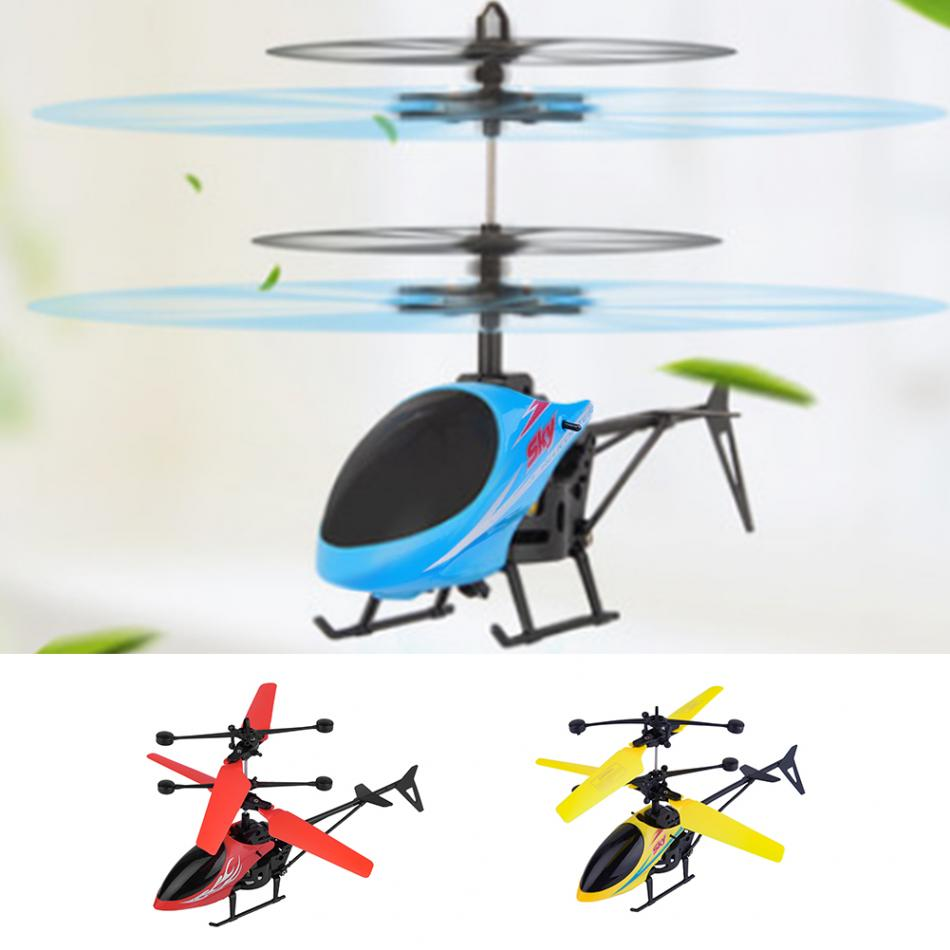2Channel Rechargeable Hand Induction Helicopter Aircraft Model Toy High Quality USB Charger Helicopter for Kids Gift